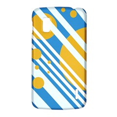 Blue, yellow and white lines and circles LG Nexus 4