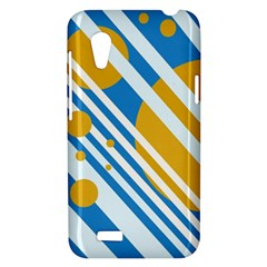 Blue, yellow and white lines and circles HTC Desire VT (T328T) Hardshell Case