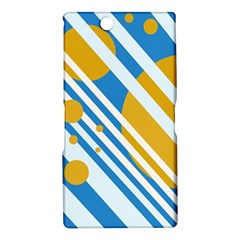 Blue, yellow and white lines and circles Sony Xperia Z Ultra