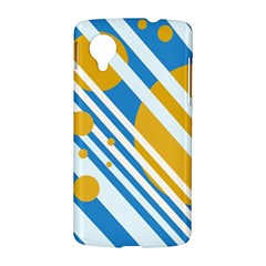 Blue, yellow and white lines and circles LG Nexus 5