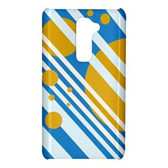 Blue, yellow and white lines and circles LG G2