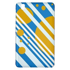 Blue, yellow and white lines and circles Samsung Galaxy Tab Pro 8.4 Hardshell Case