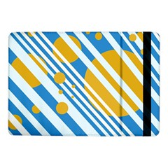 Blue, Yellow And White Lines And Circles Samsung Galaxy Tab Pro 10 1  Flip Case