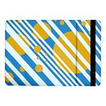 Blue, yellow and white lines and circles Samsung Galaxy Tab Pro 10.1  Flip Case Front