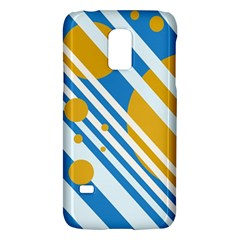 Blue, yellow and white lines and circles Galaxy S5 Mini