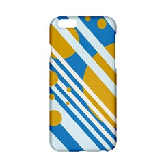 Blue, yellow and white lines and circles Apple iPhone 6/6S Hardshell Case