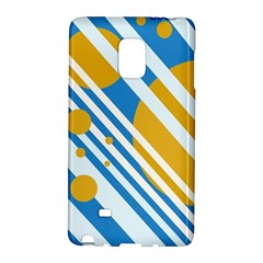 Blue, yellow and white lines and circles Galaxy Note Edge