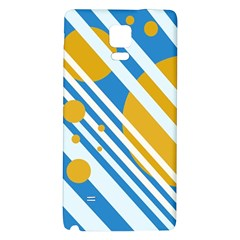 Blue, yellow and white lines and circles Galaxy Note 4 Back Case