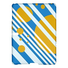 Blue, yellow and white lines and circles Samsung Galaxy Tab S (10.5 ) Hardshell Case