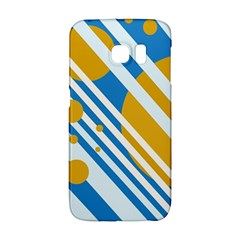 Blue, yellow and white lines and circles Galaxy S6 Edge