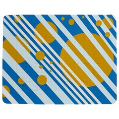 Blue, Yellow And White Lines And Circles Jigsaw Puzzle Photo Stand (rectangular)