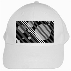 Gray lines and circles White Cap