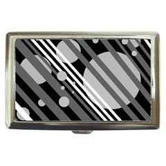 Gray lines and circles Cigarette Money Cases