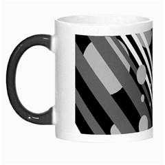 Gray lines and circles Morph Mugs