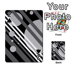 Gray lines and circles Playing Cards 54 Designs