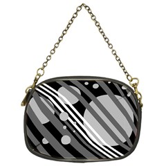 Gray lines and circles Chain Purses (One Side)