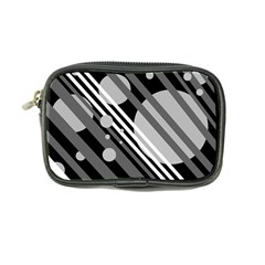 Gray lines and circles Coin Purse