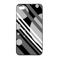 Gray lines and circles Apple iPhone 4/4s Seamless Case (Black)