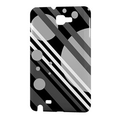Gray lines and circles Samsung Galaxy Note 1 Hardshell Case