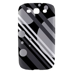 Gray lines and circles Samsung Galaxy S III Hardshell Case