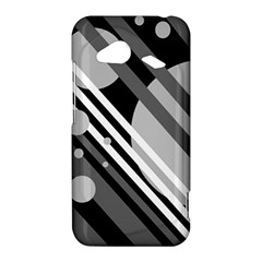Gray lines and circles HTC Droid Incredible 4G LTE Hardshell Case