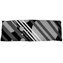 Gray lines and circles Body Pillow Case Dakimakura (Two Sides)
