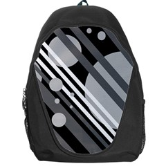Gray lines and circles Backpack Bag
