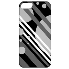 Gray lines and circles Apple iPhone 5 Classic Hardshell Case