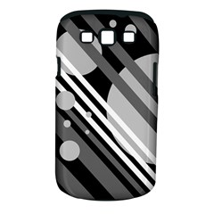 Gray lines and circles Samsung Galaxy S III Classic Hardshell Case (PC+Silicone)