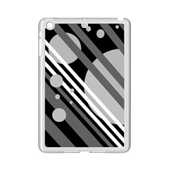 Gray lines and circles iPad Mini 2 Enamel Coated Cases