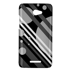 Gray lines and circles HTC Butterfly X920E Hardshell Case
