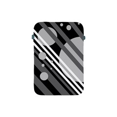 Gray lines and circles Apple iPad Mini Protective Soft Cases