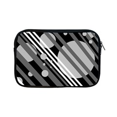 Gray lines and circles Apple iPad Mini Zipper Cases
