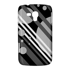 Gray lines and circles Samsung Galaxy Duos I8262 Hardshell Case