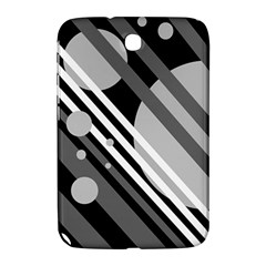 Gray lines and circles Samsung Galaxy Note 8.0 N5100 Hardshell Case