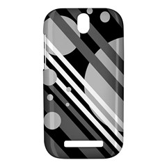 Gray lines and circles HTC One SV Hardshell Case