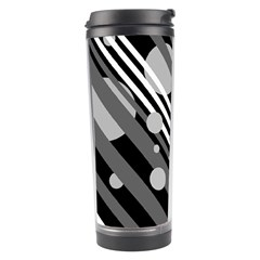 Gray lines and circles Travel Tumbler