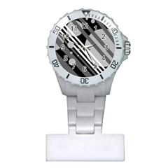 Gray lines and circles Plastic Nurses Watch
