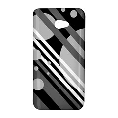 Gray lines and circles HTC Butterfly S/HTC 9060 Hardshell Case