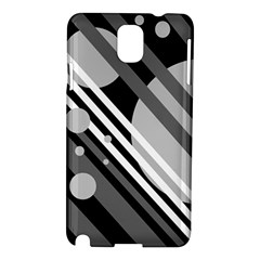 Gray lines and circles Samsung Galaxy Note 3 N9005 Hardshell Case