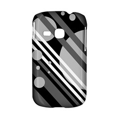 Gray lines and circles Samsung Galaxy S6310 Hardshell Case