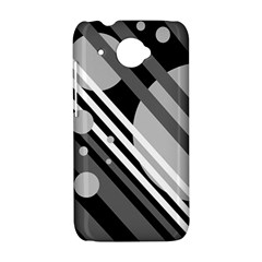 Gray lines and circles HTC Desire 601 Hardshell Case