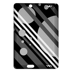 Gray lines and circles Amazon Kindle Fire HD (2013) Hardshell Case