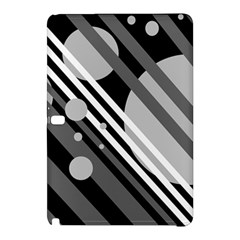 Gray lines and circles Samsung Galaxy Tab Pro 10.1 Hardshell Case