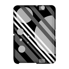 Gray lines and circles Amazon Kindle Fire (2012) Hardshell Case