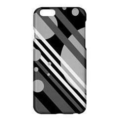 Gray lines and circles Apple iPhone 6 Plus/6S Plus Hardshell Case