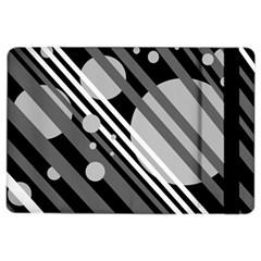 Gray lines and circles iPad Air 2 Flip