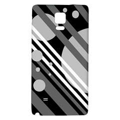 Gray lines and circles Galaxy Note 4 Back Case