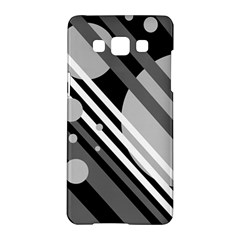 Gray lines and circles Samsung Galaxy A5 Hardshell Case