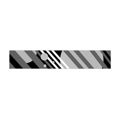 Gray Lines And Circles Flano Scarf (mini)